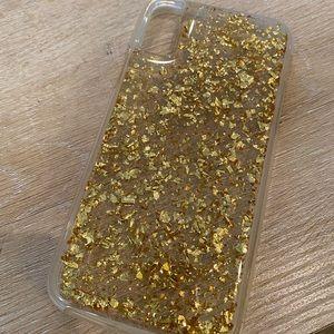 Casemate iPhone X Gold Clear Case